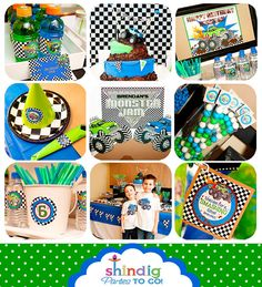 Monster Truck Party Printables Set  Birthday by AmandasPartiesToGo, $29.00