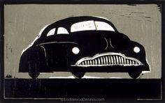 """49 Buick,"" 7.5x12, Edition of 33, 1986, Lockwood Dennis"