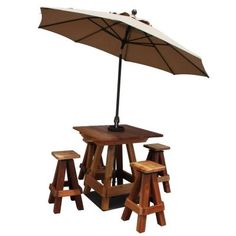 Patio Picnic Table Umbrella Stand With Mounting Plate