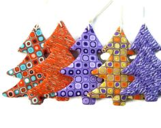 Christmas Sale  Christmas Tree Decoration Set of 5 by AngelaDesign, $25.00
