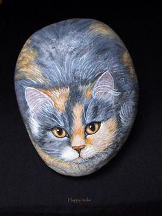 CHATTE+TRICOLORE...Beautiful cat--Beautiful artwork!!
