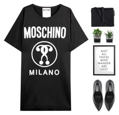 """Untitled #1798"" by tacoxcat ❤ liked on Polyvore featuring Moschino, Threshold and Pieces"