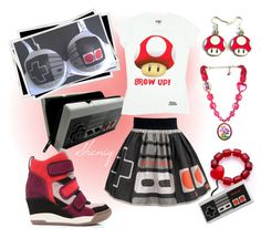 """Gamer Girl by Sheniq"" by sheniq on Polyvore <<This outfit is totally trying too hard but revert preordered is just adorable"