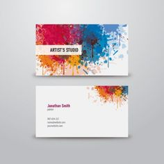 artist business card vector graphic by dryicons - Artist Business Cards
