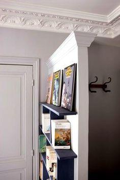 """Have you ever lived in a tiny apartment without a proper entry? If so, you'll know what I mean when I say that it can feel too abrupt to enter a home without a moment for a breather between """"outside"""" and """"inside"""". Here's one idea for creating an entry where there is none. Click through for one more inspiring image:"""