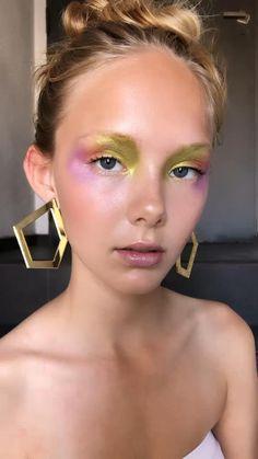 Fashion Editorial Makeup, High Fashion Makeup, Rhinestone Makeup, Glitter Makeup, Creative Makeup Looks, Unique Makeup, Makeup Art, Beauty Makeup, Eye Makeup