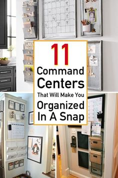 Organization Ideas office 11 Genius Command Center Ideas Get rid of your paper clutter fast with these brilliant command center ideas that perfect for a busy family! You& find tons of DIY organization ideas that work any space of your home. Home Office Organization, Organizing Your Home, Organization Hacks, Organizing Ideas, Organising, Bathroom Organization, Command Center Kitchen, Family Command Center, Command Centers