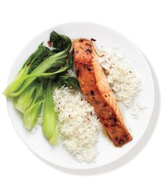 Spicy Salmon With Bok Choy and Rice | Need some quick dinner ideas? Try one of these speedy recipes that take just 15 minutes or less of hands-on work.