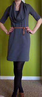Stouty Sews: Finished: The Sweatshirt Dress