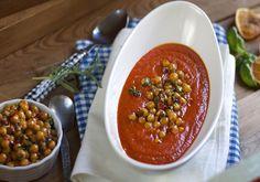 Tomatsuppe med chilistekte kikerter - Elin Larsen