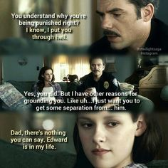 Bella and Charlie Twilight Quotes, Twilight New Moon, Twilight Pictures, Twilight Series, Twilight Movie, Cameron Bright, The Cullen, Edward Cullen, Xavier Samuel