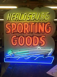 Great Neon Sporting Goods Sign