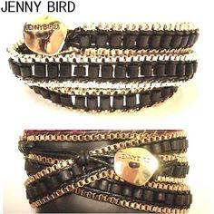 JENNY BIRD ブレスレット 今人気急上昇 ! JENNY BIRD ラップブレスレット ブラック