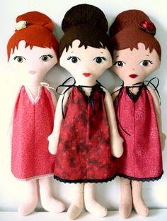 Childrens Handmade Cloth Fashion Doll n Dress PDF by LilMissDolls