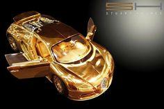 Bugatti Veyron Diamond edition small scale model. Made of gold with diamond inserts Value? $2 million
