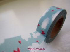 Washi Tape Roll of Head in the Clouds by WashiWishes on Etsy, $2.85