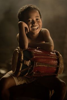 A boy with drum