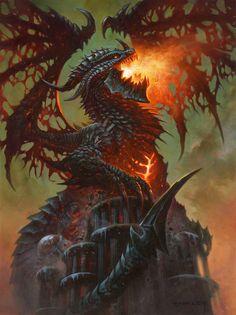 ✔ Card Name: Deathwing, Dragonlord Artist: Alex Horley