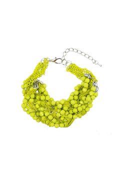 Divine Plaited Bracelet - Chartreuse $29.95 #leethal #accessories #fashion