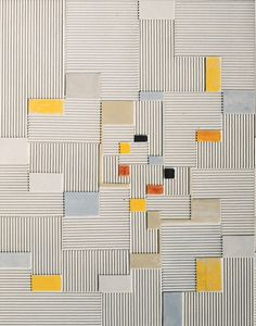 design-is-fine:  Adolf Richard Fleischmann, Relief painting #19x, 1960/61. Oil and corrugated board on canvas. Daimler Art Collection.