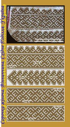 Нарукавна вишивка жіночої сорочки ХІХ ст. з Вінниччини, Східне Поділля, Україна.