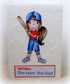The Paper Nest: Softball Ellie @copicsketch #cards #embossingfolders  scraps2treasure.blogspot.com