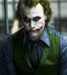 Get in costume as the Joker, the maniacal criminal mastermind played by Heath Ledger from the movie The Dark Knight.