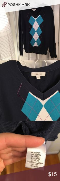 Argyle sweater A soft preppy moment. Merona Tops