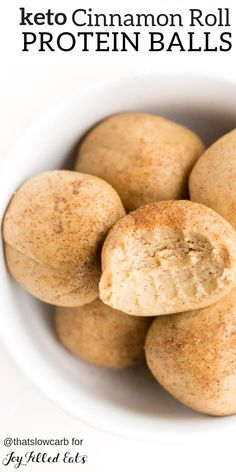 Cinnamon Roll Protein Balls Low Carb Keto GlutenFree GrainFree SugarFree DairyFree THM S these are made in just a few minutes with a few simple ingredients you already. Protein Snacks, Keto Snacks, Snack Recipes, Healthy Protein Balls, Healthy Gluten Free Snacks, Simple Healthy Snacks, Carb Free Snacks, Healthy Low Carb Breakfast, Sugar Free Snacks