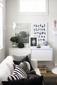 I like the black lettering of the abc black and white | Interior Design