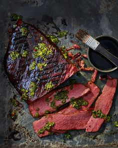 You'll want to fire up the grill after reading this recipe – salt beef with a sticky stout glaze is the barbecue dream.