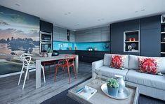 awesome ideas for apartment view london interior design - kitchen apartme . Luxury Home Decor, Luxury Interior Design, Interior Design Inspiration, Interior Architecture, Luxury Homes, Interior Decorating, Stacked Stone Backsplash, Küchen Design, House Design