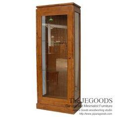 Teak modern contemporary cabinet display mebel lemari pajangan minimalis jati. Teak from Indonesia. Supplier furniture Jepara harga pabrik kualitas ekspor.
