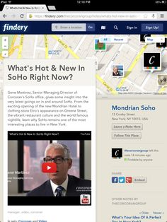 What's Hot And New In SoHo Right Now? Gene Martinez, Senior Managing Director of Corcoran's SoHo office, gives some insight into the very latest goings on in and around SoHo. From the exciting opening of the new Mondrian Hotel to clothing store Etro's appearance on Greene Street, the vibrant restaurant culture and the world famous nightlife, learn why SoHo remains one of the most interesting places to live in New York.