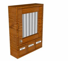 Free DIY Furniture Plans to Build a 3 Drawer Medicine Cabinet | The Design Confidential