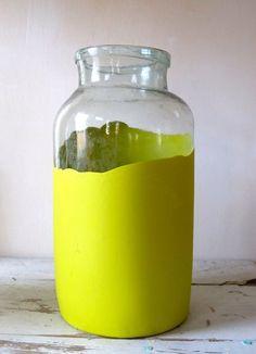 Vintage Dip Dyed Jar