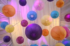 Can't stick to one color? Paper lanterns in vibrant colors will do the trick! | www.bridalbook.ph