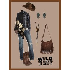 wild west by liliana-vaccara on Polyvore featuring moda, Vero Moda, WearAll, Durango, M&F Western, Bailey Western and wildwest