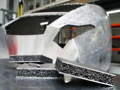 New Aluminum 'Foam' Makes Trains Stronger, Lighter, and Safer BY KATHERINE KORNEI 12.11.14  Commuters may soon be whisked to work in train cars made of aluminum foam, a composite material that's stronger, lighter, and has better crash-test characteristics than traditional fiberglass or metal.