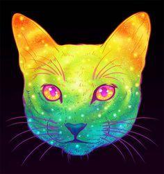 Galactic Cats – Les illustrations explosives et colorées de Jen Bartel