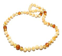 Authentic Baltic Amber Beads Necklace for Adult Raw Polished Genuine 49 cm by BLTAmber on Etsy
