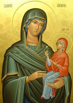 De heilige Anna en Maria