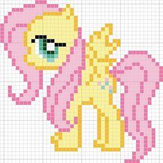My Little Pony - Idea for a mini granny square afghan Pony Bead Patterns, Perler Patterns, Beading Patterns, Cross Stitching, Cross Stitch Embroidery, Cross Stitch Patterns, Minecraft Pattern, Modele Pixel Art, Hama Beads Design