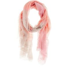 Gregory Ladner Stripe Linen Look Scarf ($18) ❤ liked on Polyvore featuring scarves, accessories, coral and scarves & gloves