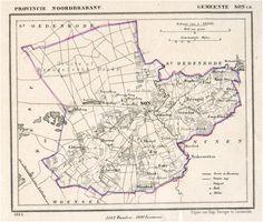 Son, Plattegrond van de gemeente Son c.a. 1865