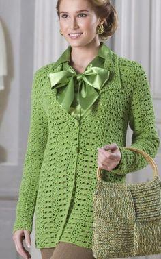 Crochet jacket, free pattern