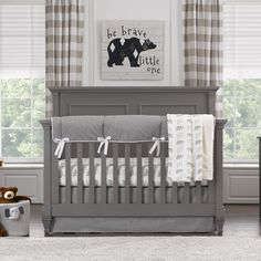Shopping for a gender neutral crib bedding set with a woodland theme? Our Fawn (Taupe) Bumperless Crib Bedding is a taupe and creamy white palate that allows for all sorts of accents. Baby Room Themes, Baby Boy Rooms, Nursery Themes, Baby Cribs, Nursery Ideas, Themed Nursery, Baby Beds, Nursery Decor, Baby Basinets