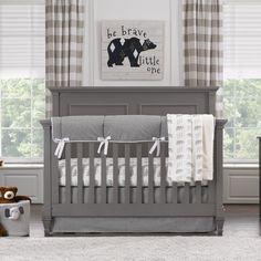 Cubby Gray Bear Crib Bedding