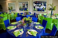 lime green & bright blue party decor | ... mitzvah celebration | bar mitzvah party | bar mitzvah | MitzvahMarket