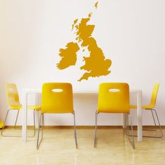 United Kingdom Wall Stickers Map Wall Decal Art